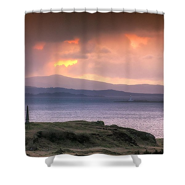 Hutcheson's Monument On The Isle Of Kerrera At Sunset Shower Curtain