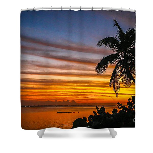 Shower Curtain featuring the photograph Hutchinson Island Sunrise #1 by Tom Claud