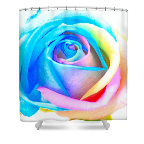 Rainbow Rose Shower Curtain