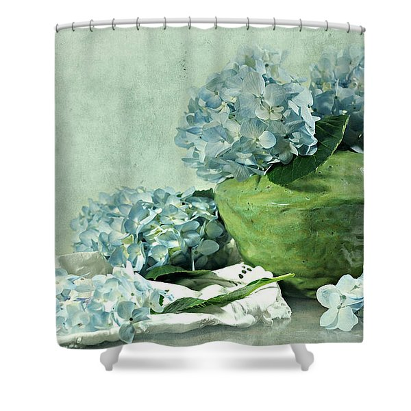 Hydra Blues Shower Curtain