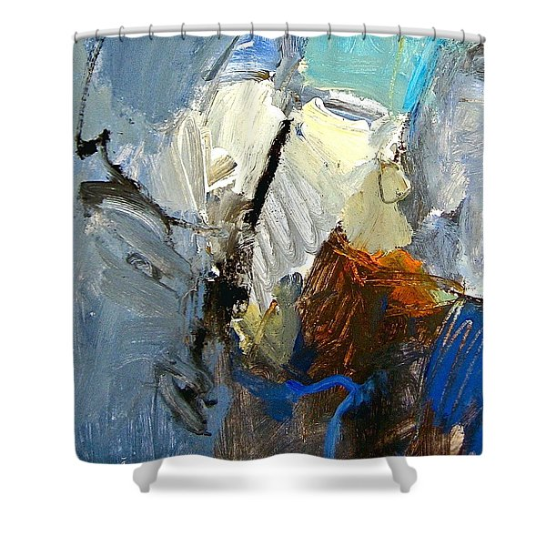 Shower Curtain featuring the painting Hydra- Igneous Flame  by Cliff Spohn