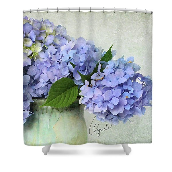 Hydrangea Signed Shower Curtain
