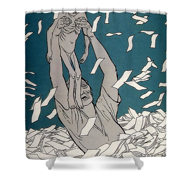 Hyperinflation Of German Currency Shower Curtain