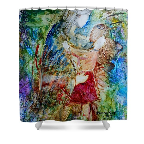 Shower Curtain featuring the painting I Am A Child Of God by Deborah Nell