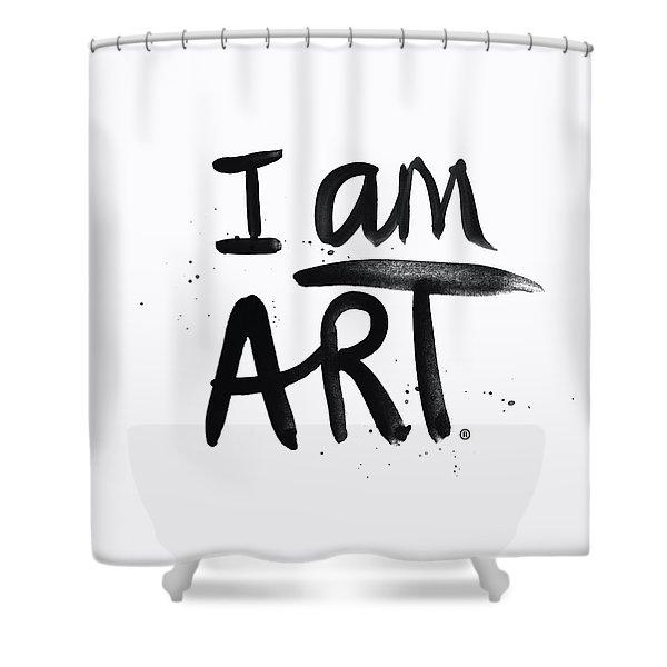 I Am Art Black Ink - Art By Linda Woods Shower Curtain