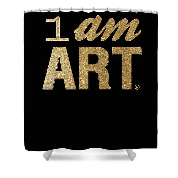 I Am Art- Gold Shower Curtain