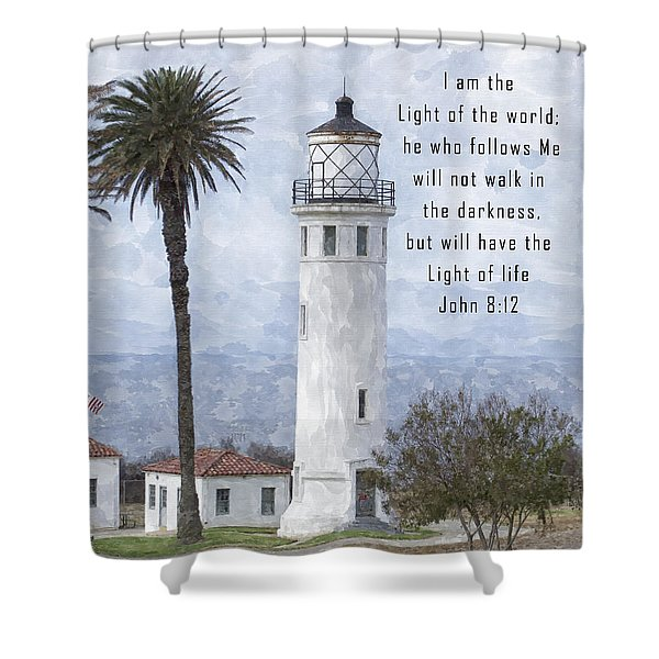 I Am The Light Of The World Shower Curtain
