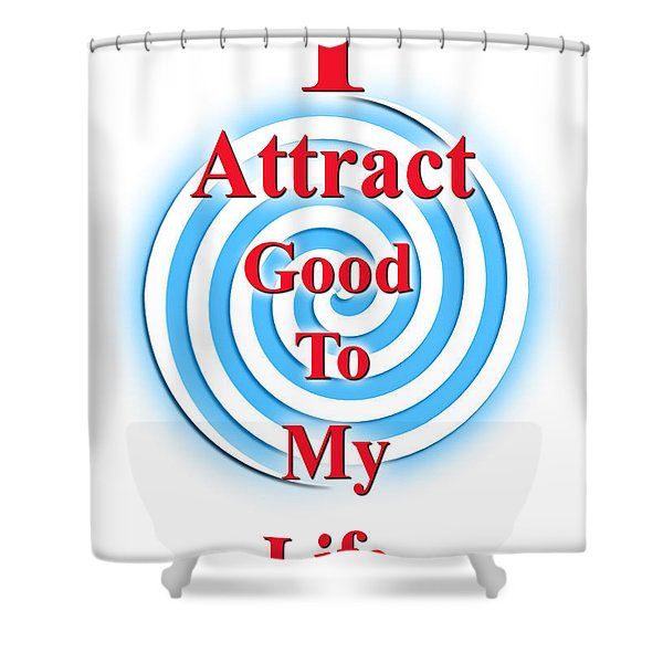 I Attract Red White Blue Shower Curtain