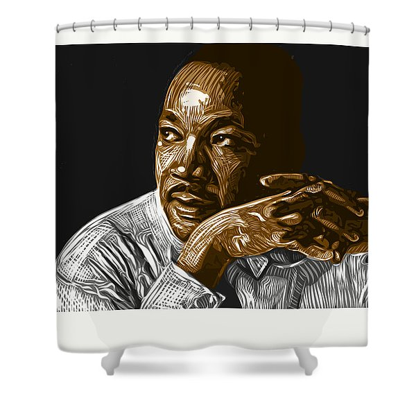 Shower Curtain featuring the digital art I Have A Dream . . . by Antonio Romero