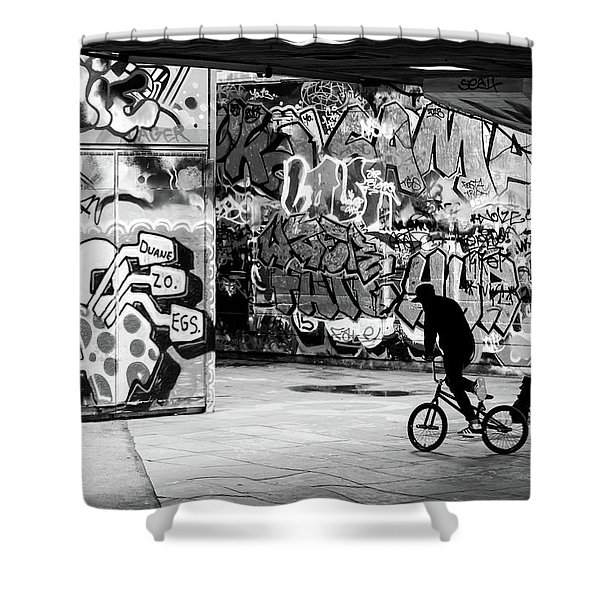 I Ride Alone Shower Curtain