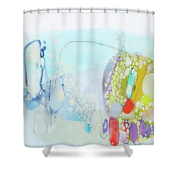 I Said Yes In My Head Shower Curtain