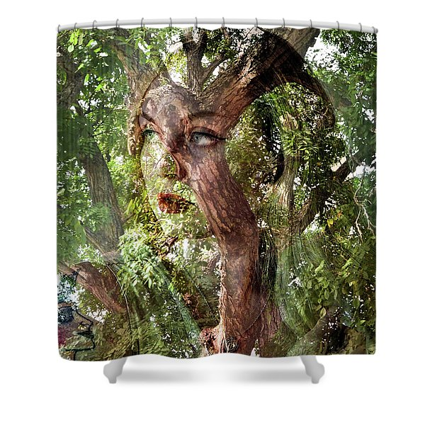 I See Myself In Nature Shower Curtain