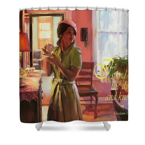 I Stand At The Door And Knock Shower Curtain