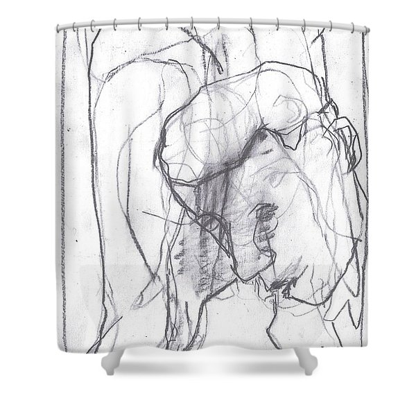 I Was Born In A Mine 12 Shower Curtain