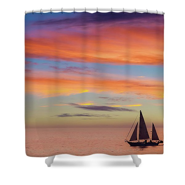 I Will Sail Away, And Take Your Heart With Me Shower Curtain