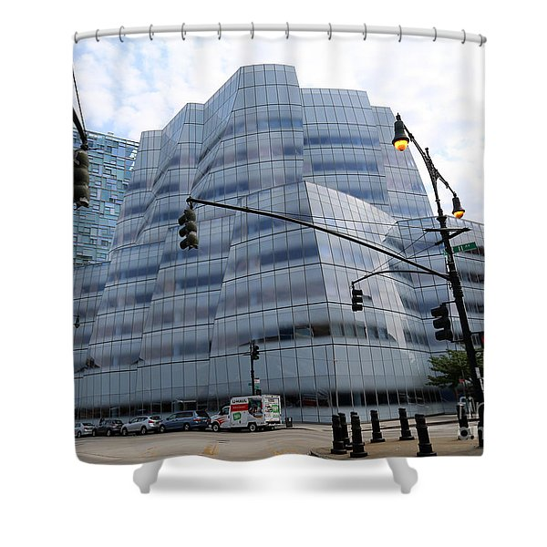 Iac Building By Frank Gehry In Chelsea Shower Curtain