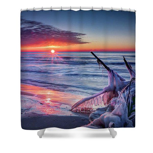 Ice Age Sunrise 1 Shower Curtain