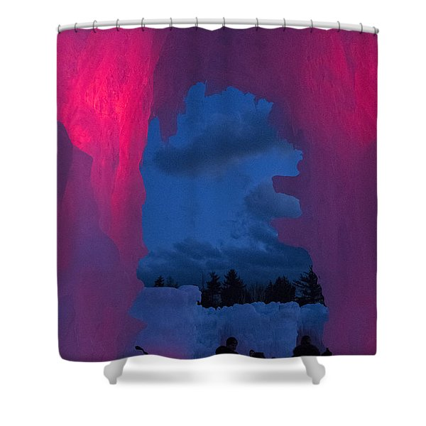 Ice And Colors  Shower Curtain