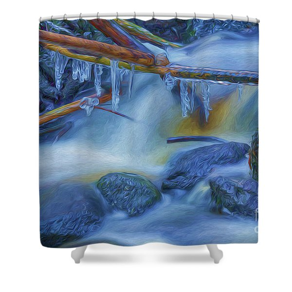 Ice And Water 2 Shower Curtain