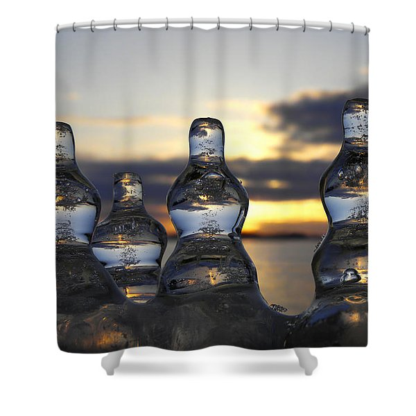 Ice And Water 3 Shower Curtain