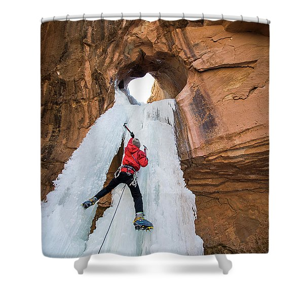 Ice Climber Shower Curtain