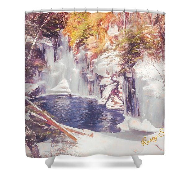 Ice Cold View Of Sages Ravine. Northwest Connecticut Shower Curtain