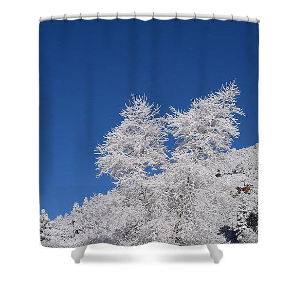 Ice Crystals Ute Pass Cos Co Shower Curtain