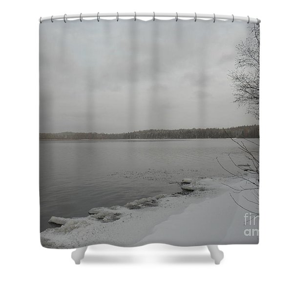 Ice Edge Shower Curtain