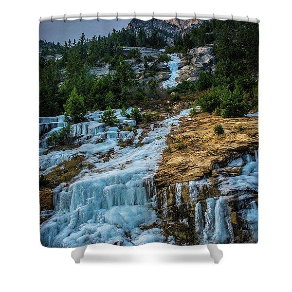 Ice Fall Shower Curtain