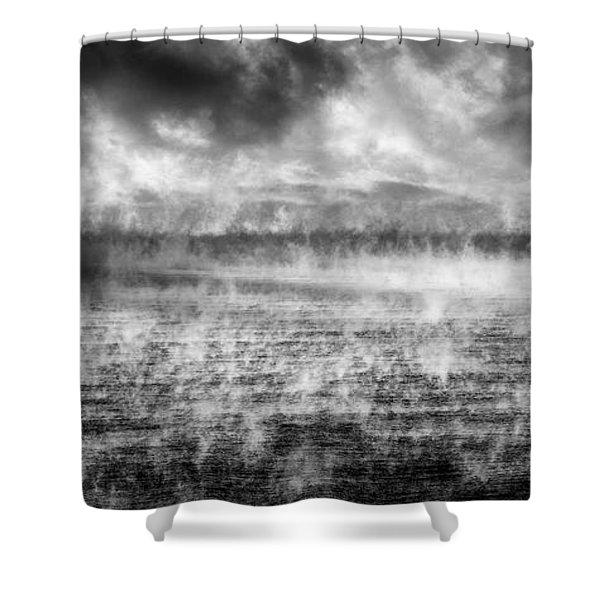 Ice Fog  Shower Curtain
