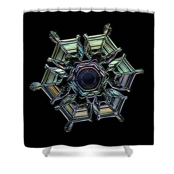 Ice Relief, Black Version Shower Curtain