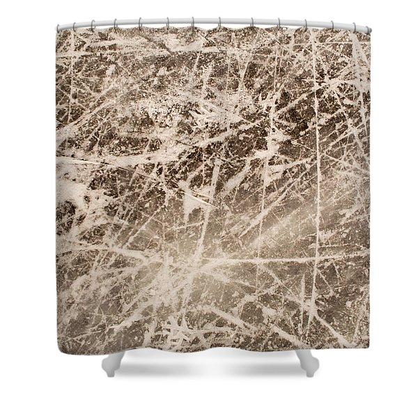 Ice Skating Marks Shower Curtain