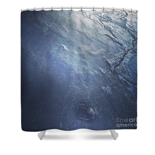 Ice Texture Shower Curtain
