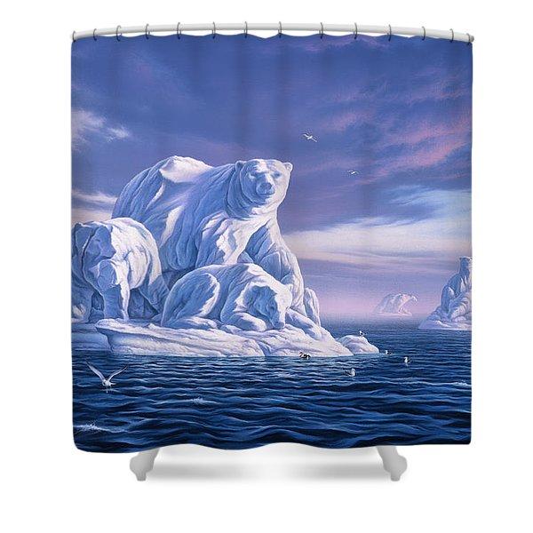 Icebeargs Shower Curtain