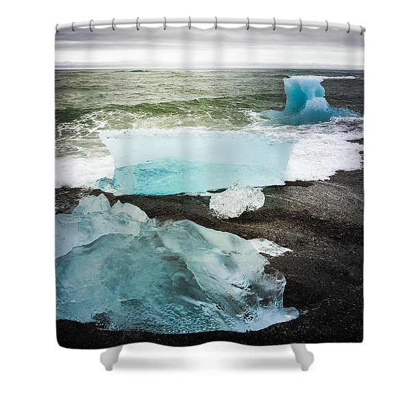 Iceberg Pieces Jokulsarlon Iceland Shower Curtain