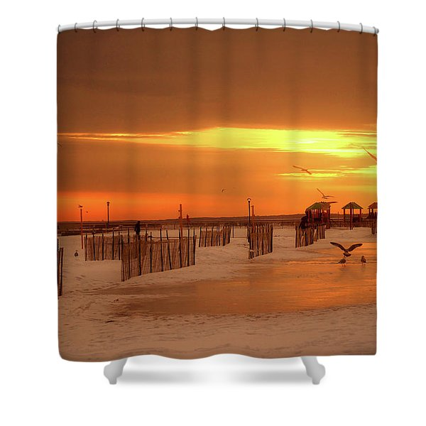 Iced Sunset Shower Curtain