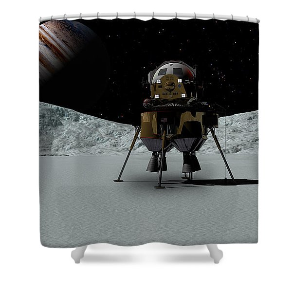 Icefield Landing Shower Curtain