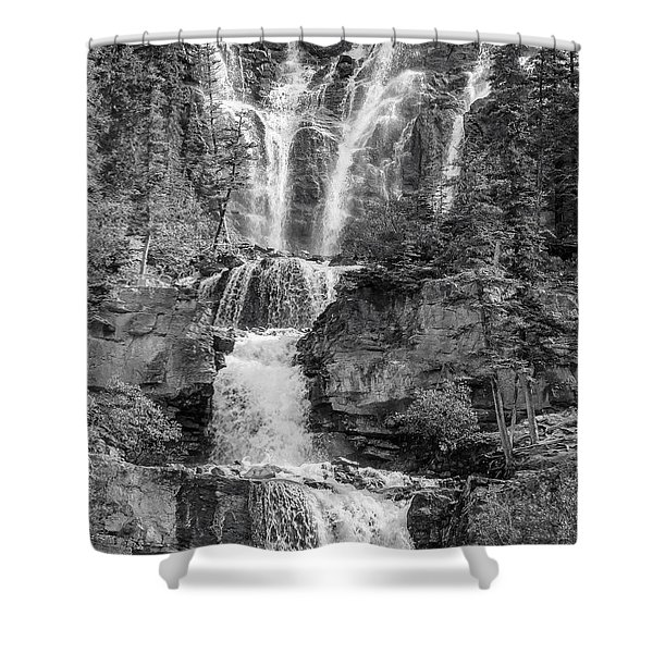 Icefields Waterfall Shower Curtain