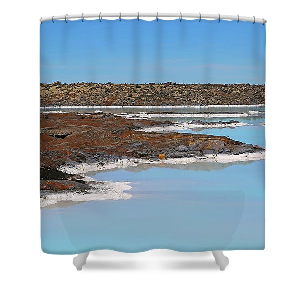 Iceland Blue Lagoon Lava Field Shower Curtain