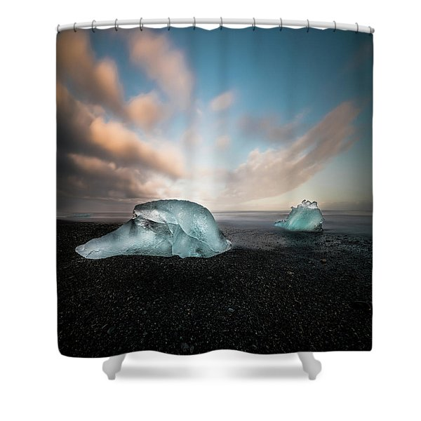 Iceland Glacial Ice Shower Curtain