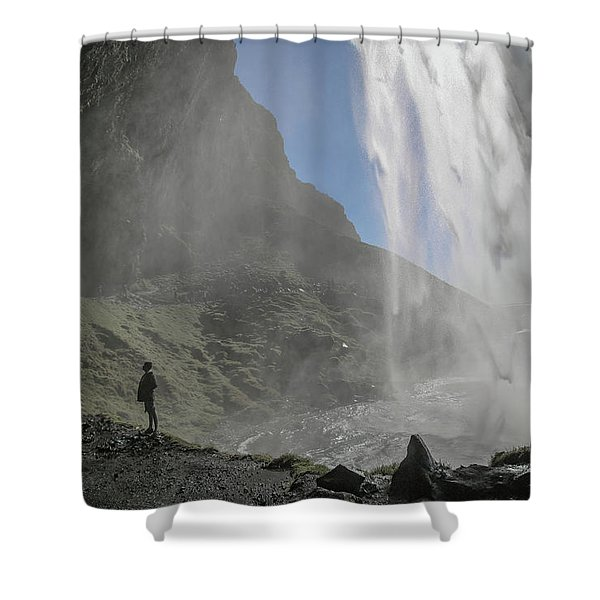 Iceland Skogafoss A Moment Not Forgotten  Shower Curtain