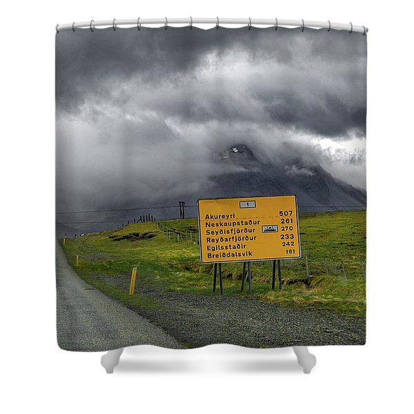 Iceland Stormy Ring Road Adventure Shower Curtain