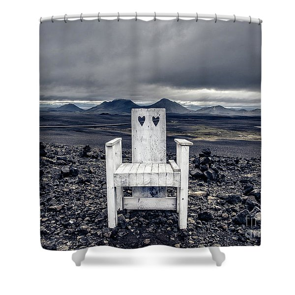 Iceland White Chair Wide Shower Curtain