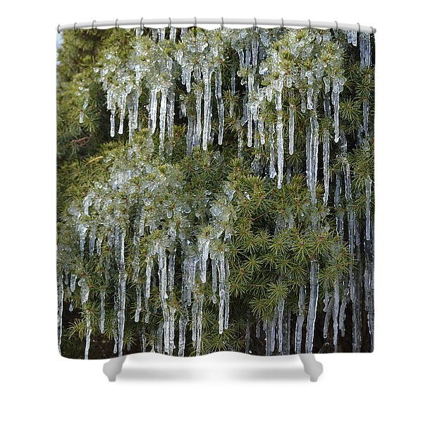 Icicle Cascade Shower Curtain