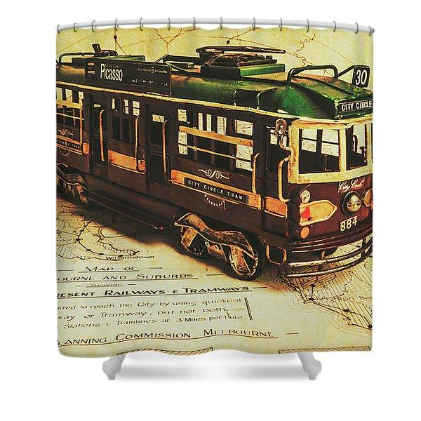 Icon Melbourne Tram Art Shower Curtain