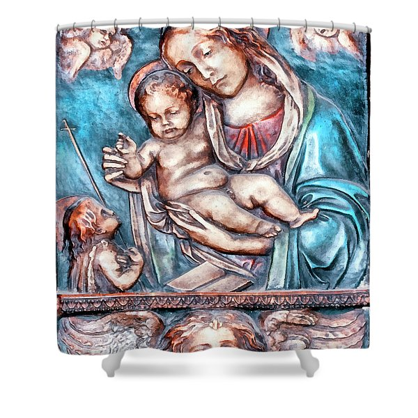 Icon Of Madonna Mother Of God  Shower Curtain