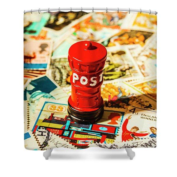 Iconic British Mailbox Shower Curtain