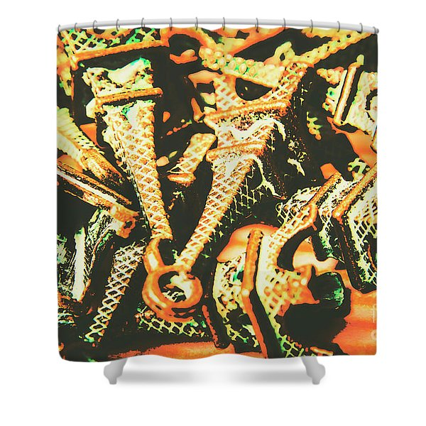 Iconic French Eiffel Towers  Shower Curtain