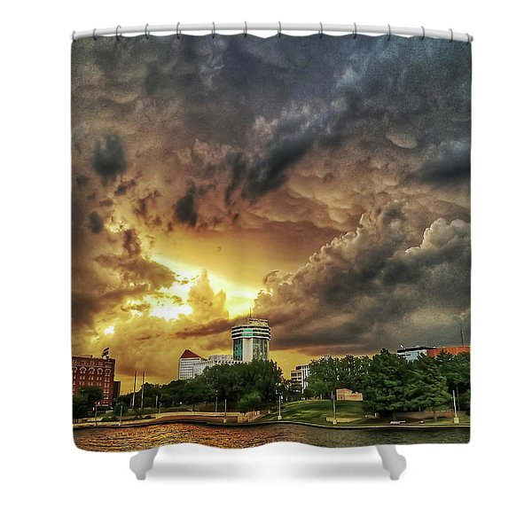 Ict Storm - From Smrt-phn L Shower Curtain