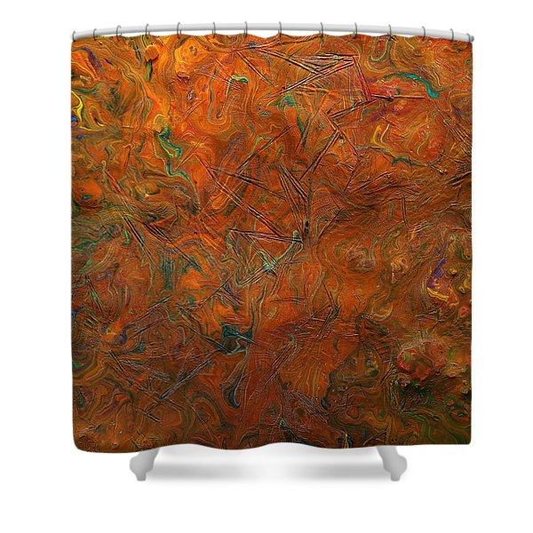 Icy Abstract 8 Shower Curtain